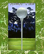 Golf Painting Prints - High Tee... Print by Will Bullas