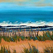 Sand Fences Originals - High Tide by Cathy Harville