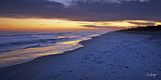 Hilton Head Prints - High Tide In Fading Light Print by Phill  Doherty