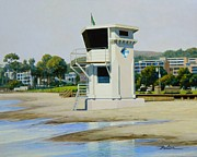 Laguna Beach Painting Prints - High Tide Laguna Print by Frank Dalton