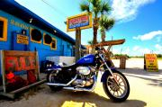 Flagler Posters - High Tides Harley Poster by Andrew Armstrong  -  Orange Room Images