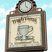 Americana Posters - High Time for a Traditional Tea Poster by Anthony Ross