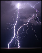 Lightning Photography Framed Prints - High Voltage! Framed Print by Pat Gaines