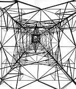 Transmission Framed Prints - High Voltage Power Mast Framed Print by Yali Shi