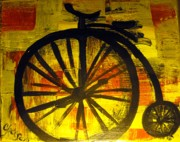 Penny Farthing Framed Prints - High wheel Framed Print by Cat Jackson