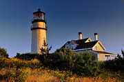 Cape Cod Mass Metal Prints - Highland Beacon from the Bluffs Metal Print by Thomas Schoeller