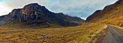 Wester Ross Prints - Highland cliff panorama Print by Gary Eason