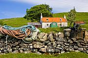 Ropes Prints - Highland Cottage at Ockle Ardnamurchan Print by John McKinlay