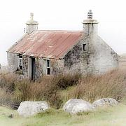 Wester Ross Prints - Highland Cottage in the Mist Print by John McKinlay
