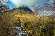 Etive Mor Framed Prints - Highland landscape Framed Print by Gary Eason