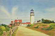Cape Cod Lighthouse Paintings - Highland Lighthouse Cape Cod by Phyllis Tarlow