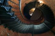 Cape Cod Mass Art - Highland Lighthouse stairs Cape Cod by Matt Suess