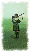 Tartan Painting Posters - Highland Morning Poster by Earl Jackson