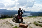 Invergarry Framed Prints - Highland Piper Framed Print by Kevin Askew