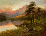Calm Painting Posters - Highland Solitude Poster by Frank Hider
