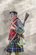 Forbes Prints - Highlander Soldier Portrait  Print by Randy Steele