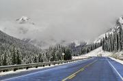 Winter Roads Prints - Highway 40 In Winter, Highwood Pass Print by Darwin Wiggett