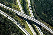 Aerial Posters - Highway Bridge Poster by Daniel Reiter