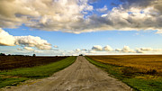 Gravel Road Photo Metal Prints - Highway D New Melle Mo 3 Metal Print by Bill Tiepelman
