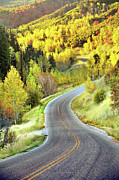 Yellow Line Metal Prints - Highway Near Alpine Metal Print by Utah-based Photographer Ryan Houston