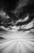Sask Photo Posters - Highway Through Land Of The Living Skies Saskatchewan Canada Poster by Joe Fox