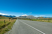 Alp Photos - Highway towards panoramic mountain by Ulrich Schade