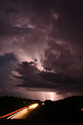 Photographer Lightning Posters - Highway Weather Poster by David Paul Murray