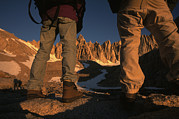 Mount Whitney Photos - Hikers Look Toward The Peak Of Mount by Phil Schermeister