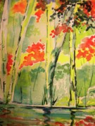Reflections Mixed Media Originals - Hiking on the Blue Ridge Parkway by Jill Morris