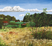 Wisconsin Landscape  Painting Originals - Hildas Farm by Jason Thrun