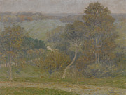 Autumn Landscape Prints - Hill and Hollow Print by Lewis Henry Meakin
