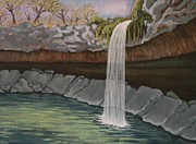 Swimming Hole Paintings - Hill country delight by Mateo Antonell