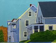 Hill Houses Print by Laurie Breton