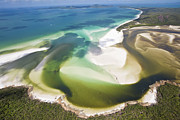 Whitsunday Photos - Hill Inlet, Whitsunday Islands, Australia by Peter Adams