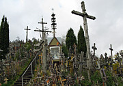 Rosary Framed Prints - Hill of Crosses 10. Lithuania Framed Print by Ausra Paulauskaite