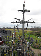 Rosary Posters - Hill of Crosses 11. Lithuania Poster by Ausra Paulauskaite
