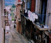 Sicily Digital Art - Hill Town In Sicily by Ian  MacDonald