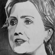 Hillary Clinton Prints - Hillary Clinton Print by Kenneth Regan
