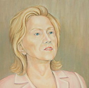 Hillary Clinton Painting Originals - Hillary Clinton by Nasko Dimov