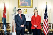 Bswh052011 Prints - Hillary Clinton With King Abdullah Ii Print by Everett
