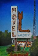 Tim Painting Originals - Hillcrest Motel by Tim Webster