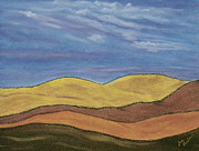Plains Pastels Originals - Hills by Jim Barber Hove