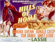 Lobbycard Framed Prints - Hills Of Home, Lassie, Edmund Gwenn Framed Print by Everett
