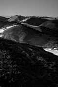 Black And White Landscape Photograph Posters - Hills of Light and Darkness Poster by Steven Ainsworth