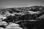 Monotone Prints - Hills of San Luis Obispo Print by Steven Ainsworth