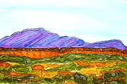 Watercolor Southwest Landscape Paintings - Hills That Nourish by Kerry  Bennett