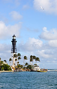 Hillsboro Prints - Hillsboro Inlet Lighthouse Florida Print by Michelle Wiarda