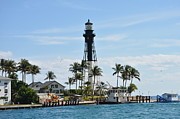 Hillsboro Prints - Hillsboro Inlet Lighthouse Print by Tiffney Stevens