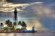 Hillsboro Prints - Hillsboro Inlet Lighthouse Print by William Wetmore