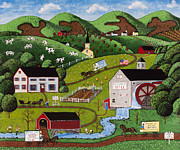 Charles Bridge Paintings - Hillsdale Farms by Joseph Holodook